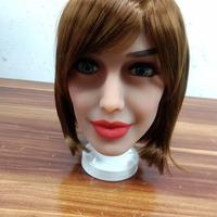 Oral Sex Doll Heads with m16 Connector Silicone Doll Mold for Big Size Love Dolls 135cm 176cm Sex Toy Doll(Head Only)
