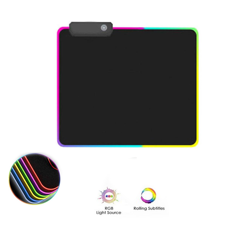 RGB Gaming Mouse Pad  Large Mouse Pad Gamer  LED Computer Mousepad At With Backlight Carpet For Keyboard Desk