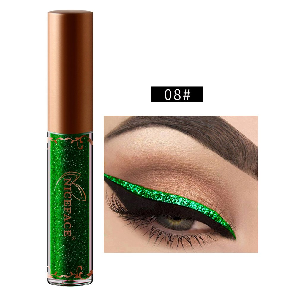 Easy To Wear And Remove Metallic Color Sparkling Diamond Eye Liner High Gloss Pearl Eye Liner Make Up Eyeliner