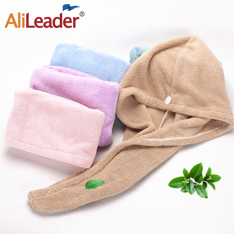 Alileader 1-5Pcs Twist Dry Shower Microfiber Hair Wrap Towel Hat Drying Quick Drying Turban Super Absorbent Towel Hat For Women