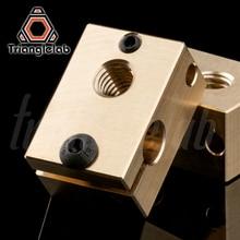 Медный медный нагревательный прибор блок для E3D copper hotend для 3D принтера высокая температура для закаленной стали V6 сопла/titan экструдер