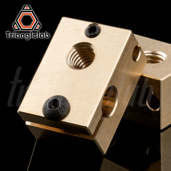 copper brass heater block for E3D copper hotend for 3D printer high temperature for Hardened Steel V6 Nozzles/titan extruder mellow all metal nf crazy hotend v6 copper nozzle for ender 3 cr10 prusa i3 mk3s alfawise titan bmg extruder 3d printer parts