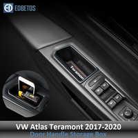 Car Interior Lato Anteriore Auto Porta dell'organizzatore Di Immagazzinaggio Box Holder per Volkswagen VW Atlas Teramont 2017 2018 Maniglia Della Porta di Stoccaggio box