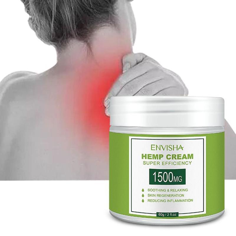 60ml 1500mg Natural Hemp Face Cream Hemp CBD Oil Extract Cream Moisturizing Hyaluronic Acid Anti Wrinkle Nourishing Collagen Essence Skin Care