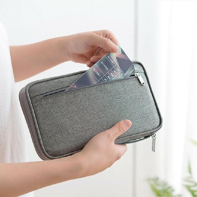 Hot travel wallet family passport holder creative waterproof document case organizer travel accessories document bag cardholder