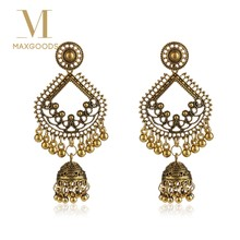 Egypt Vintage Jhumka Bells Tassel Earrings For Fashion Women Tribal Gypsy Classic Water Drop Indian Jewelry(China)