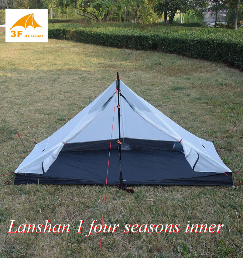 370 grams Lanshan 1 Four seasons inner T door design 210*95/75*112cm tentTents