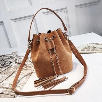 Mini Suede Bucket Crossbody Bag  3