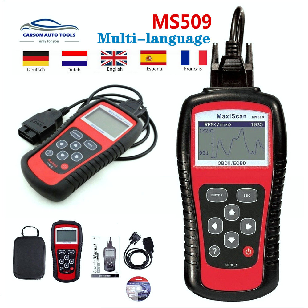 Original A-utel MaxiScan MS509 OBDII OBD2 Code Reader Automotive Diagnostic Tool Work For US&Asian&European Car Scanner