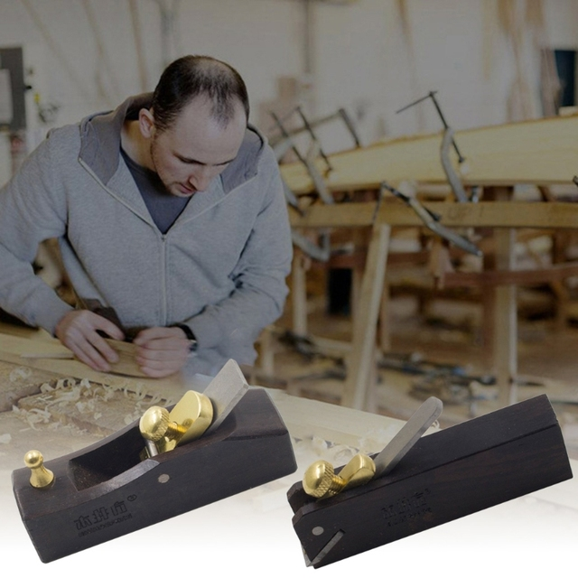 Mini rabot à main travail du bois ébène menuiserie outils de travail du bois tranchage en douceur meulage rabot à fond plat