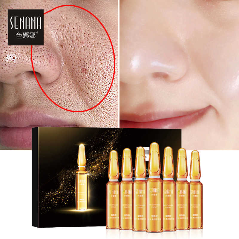 SENANA Hyaluronic Acid Face Serum 24 K Gold Nicotinamide Ampoule Anti-Aging รูขุมขนหดตัว Anti-Ance Whitening Moisturizing essence