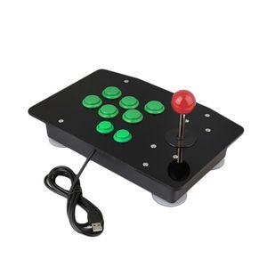 Image 2 - Acryl Null Verzögerung Arcade Fighting Stick USB Verdrahtete Computer Gaming Joystick Spiel Wippe Controller mit 8 Tasten Für PC Desktop