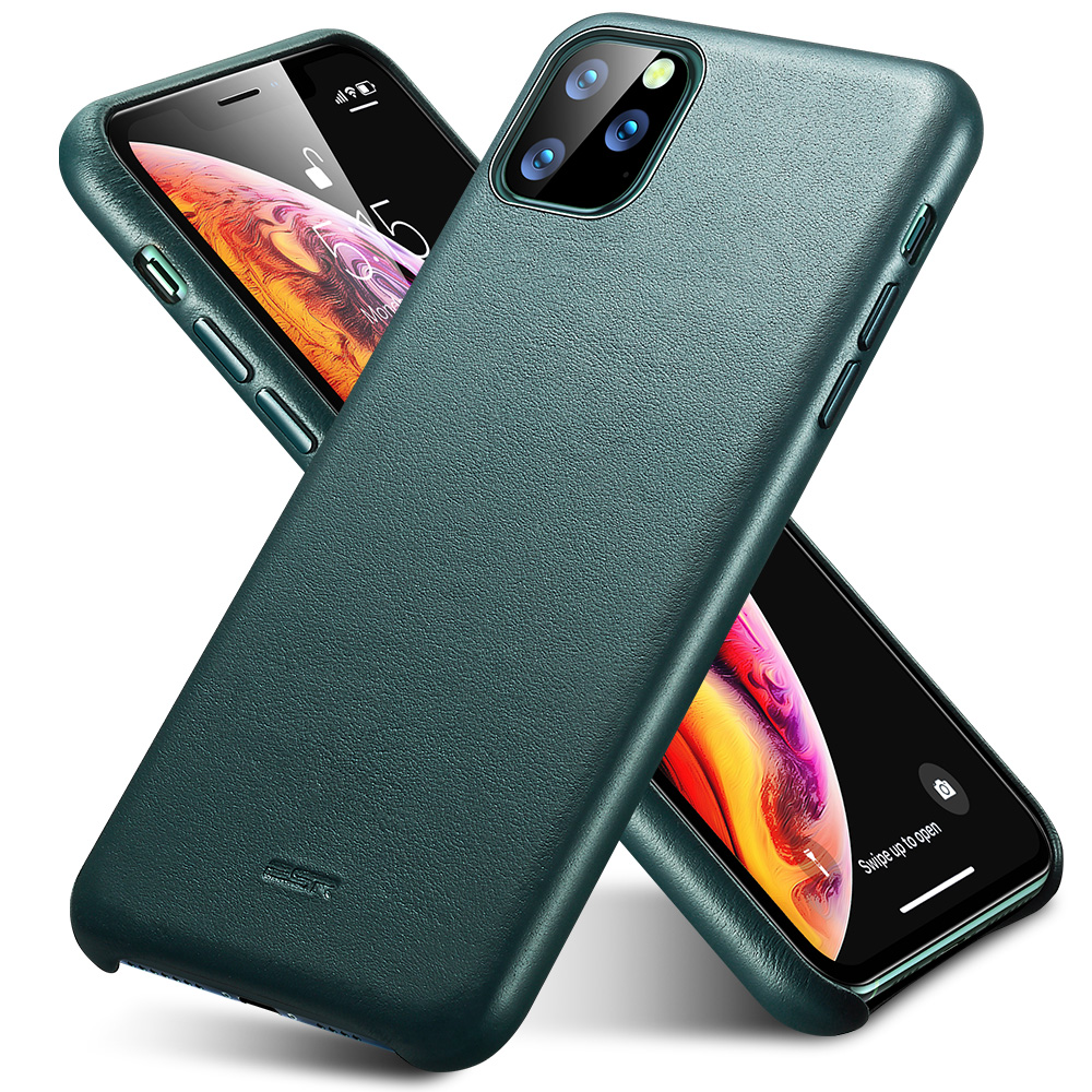 H7342bf517a104f4ab470cc4d4e7e8f89k ESR Case for iPhone 11 Pro Max Leather Case Cover Brand Black Green Genuine Leather Protective Cover for iPhone 11 2019 11pro