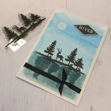 Dies-Set Craft-Supplies Scrapbooking-Paint Pine-Stamps Transparent for DIY Silicone Christmas-Elk