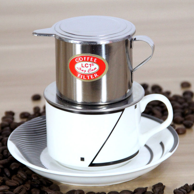 1pcs Stainless Steel Hand Coffee Filter Cup Vietnamese Coffee Filter Stainless Steel Maker Pot Infuse Cup Serving Delicious