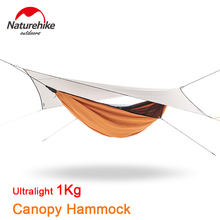 Naturehike Outdoor Camping Hammock Tent Canopy Anti-rollover Hammock Swing 40D Nylon Awning Ultralight Garden Leisure Equipment