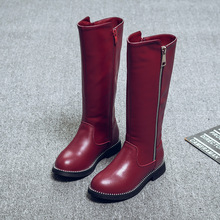 Leather High zipper Snow Boots NA01