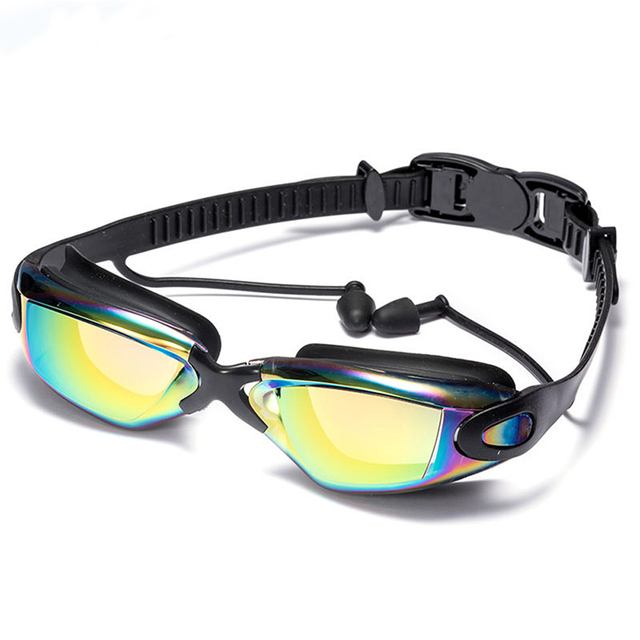 """Electroplate Swimming Goggles <p class=""""product-title-text"""" data-spm-anchor-id=""""a2g0o.detail.1000016.i3.526e48b1Zjx64b"""">Professional Electroplate Swimming Goggles, Swimming Glasses with Earplugs Nose Clip Waterproof Silicone.</p> - FitnessKim"""