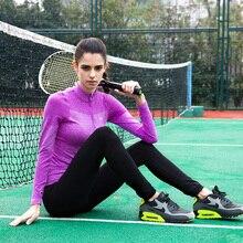Спортивная футболка с длинными рукавами для йоги, высокая эластичная быстросохнущая дышащая куртка для бега и фитнеса, рубашка на молнии