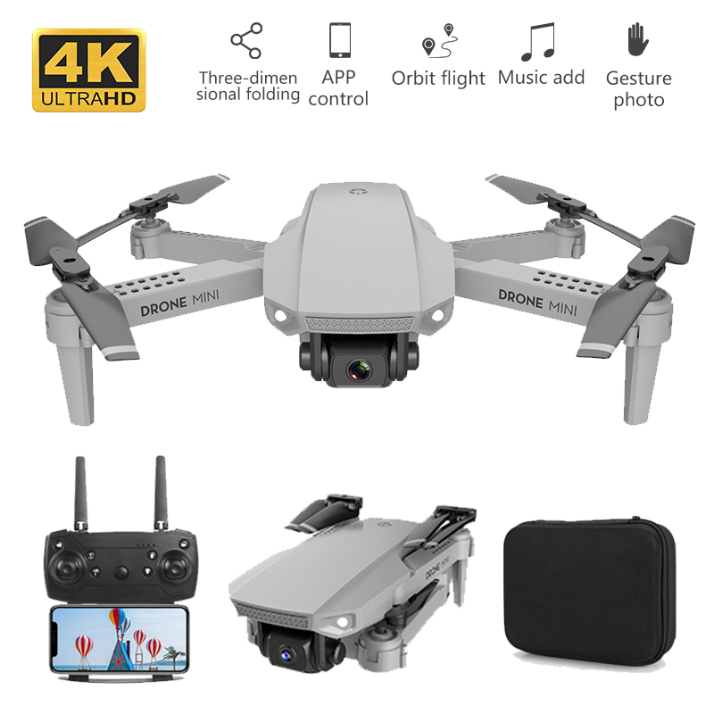 E88 Foldable 4K Mini Drone With RC Quadrocopter With WIFI FPV Wide Angle HD Camera Helicopter Height Keeping Drone Toys Boy Gift