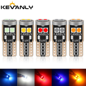 10PCS T10 LED W5W LED BA9S LED Canbus car interior light 194 501 6 SMD 3030 LED Instrument Lights bulb Wedge light no error 12V