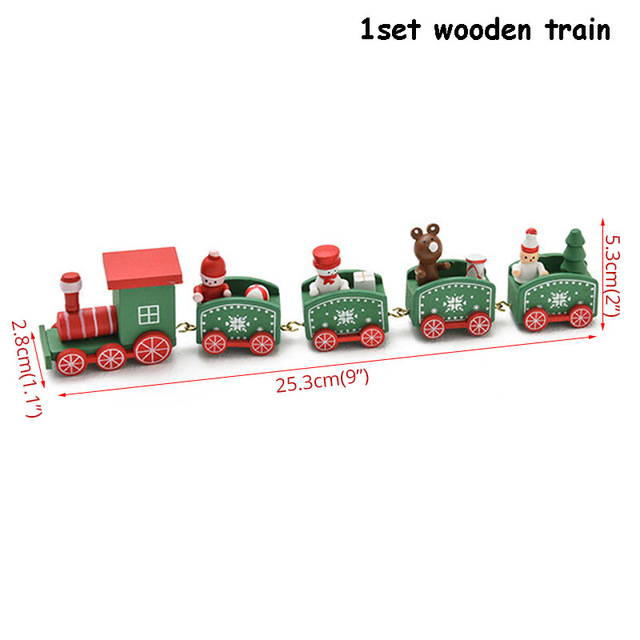 wooden train green