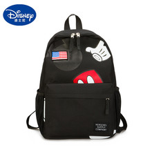 Disney new cute cartoon mickey mouse backpack student boy girl school bag street campus commuter travel kids gifts