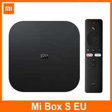 Xiaomi Mi TV Box S 4K Android 9.0 Ultra HD Streaming Media Player Google Cortex-A53 Quad Core 2GB + 8GB dekoder