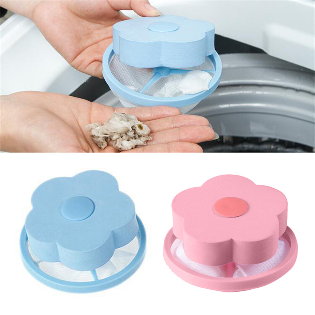 WMesh Filtering Hair Removal Floating 2Pcs Filter Bag Washer Style Laundry Clean Dirty Fiber Collector Washing Machine Filter