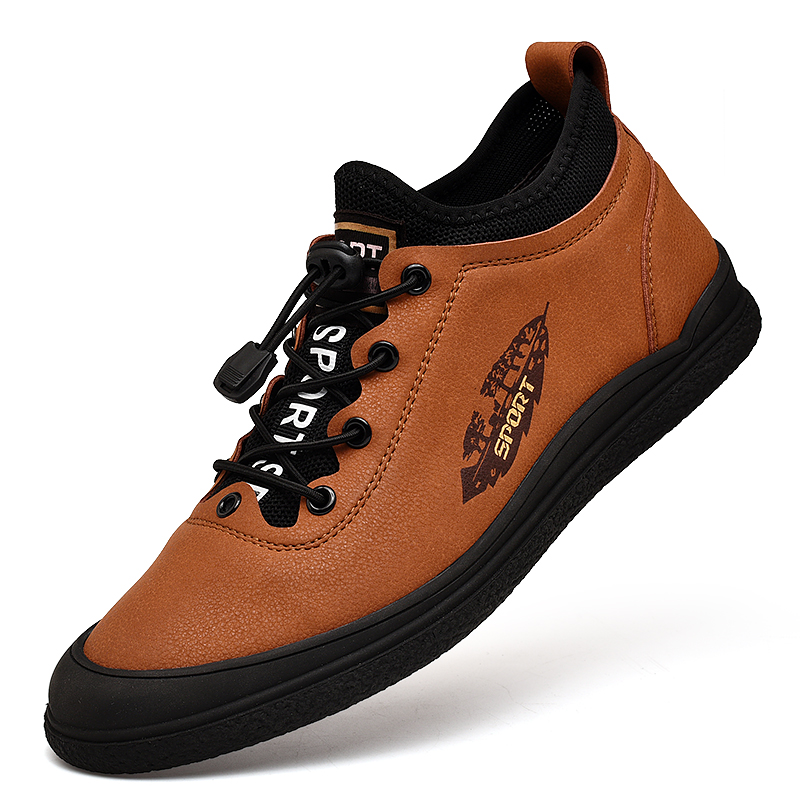 Fashion Sneakers Genuine Leather Casual Shoes Men Breathable Classic Black Brown  Male Shoes Autumn And Winter Sneakers