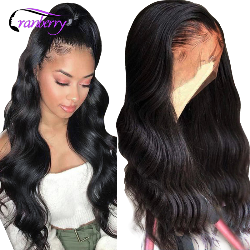 Cranberry Remy Peruvian Body Wave Wig Lace Front Human Hair Wigs Transparent HD Lace Frontal Wig Pre Plucked Natural Hairline