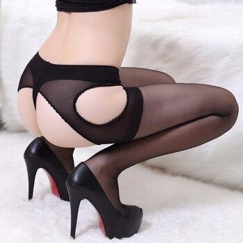 Hot Sale New Women Sexy Open Crotch Pantyhose Women Ultra-thin  Semitransparent Design Pantyhose Intimates Medias Sexy Costumes