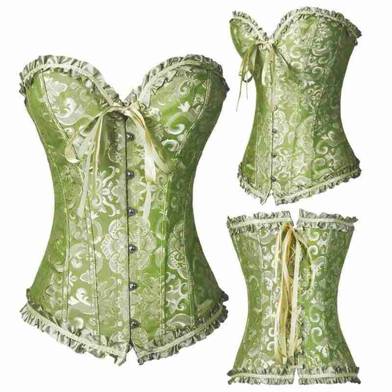 Sexy Women Lace Up Corset Bustier Top Corset Boned Waist Trainer Body Shaping And Slimming Clothing Plus Size XS-6XL Underwear