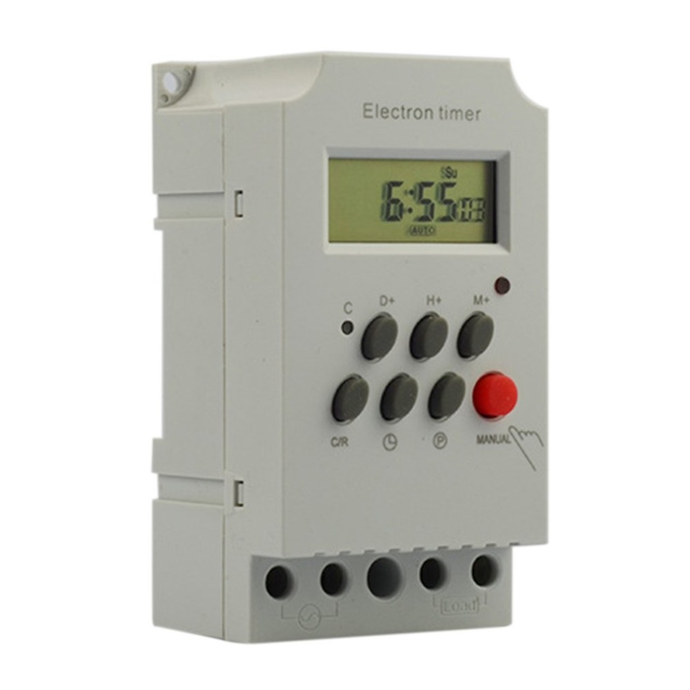 KG316T-II Mini Programmable Din Rail Digital LCD Timer Switch Electronic Home Security Control Switch Automatic Timer Switch