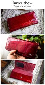 Image 5 - HH Women Wallet and Purse Stone Genuine Leather Womens Wallets Ladies Clutch Bag New Female Luxury Brand Hasp Long Purses