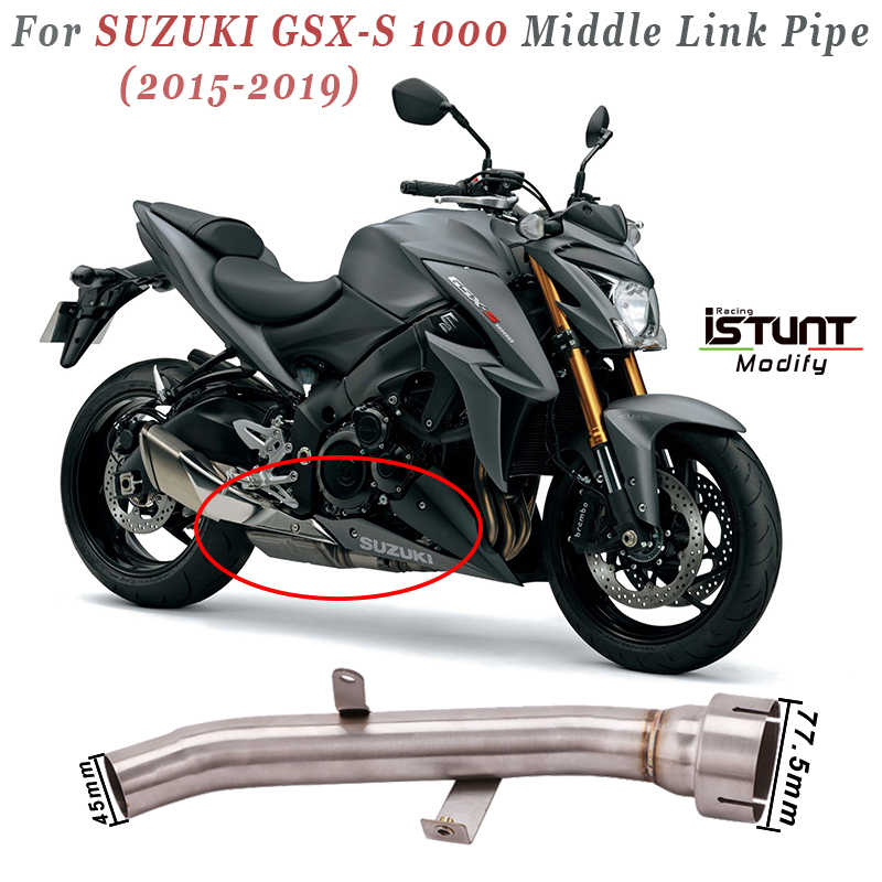 motorcycle exhaust system modified middle connecting pipe for suzuki gsxs1000 gsx s1000 gsx s1000 2015 2016 2017 2018 2019 years