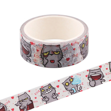 CB1040 Funny Cat Journal Washi Tape Adhesive Tape Diy Diary Masking Tape Cute Stickers Stationery Supply