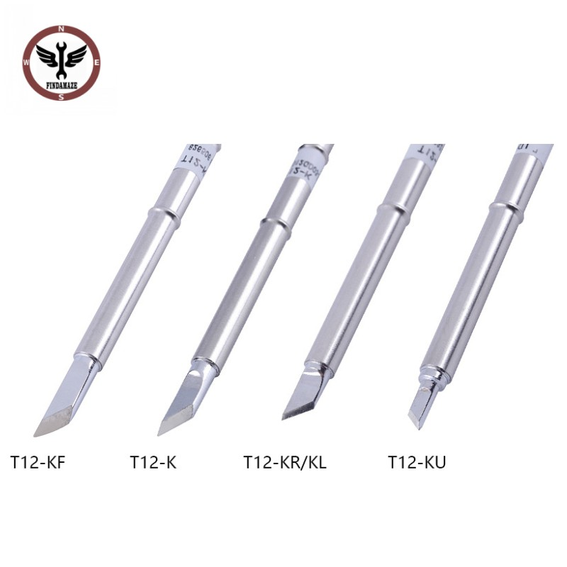 FINDAMAZE T12 Cutter Head Type Iron Tip T12-K KF KU KR For FX951STC AND STM32 OLED Soldering Station