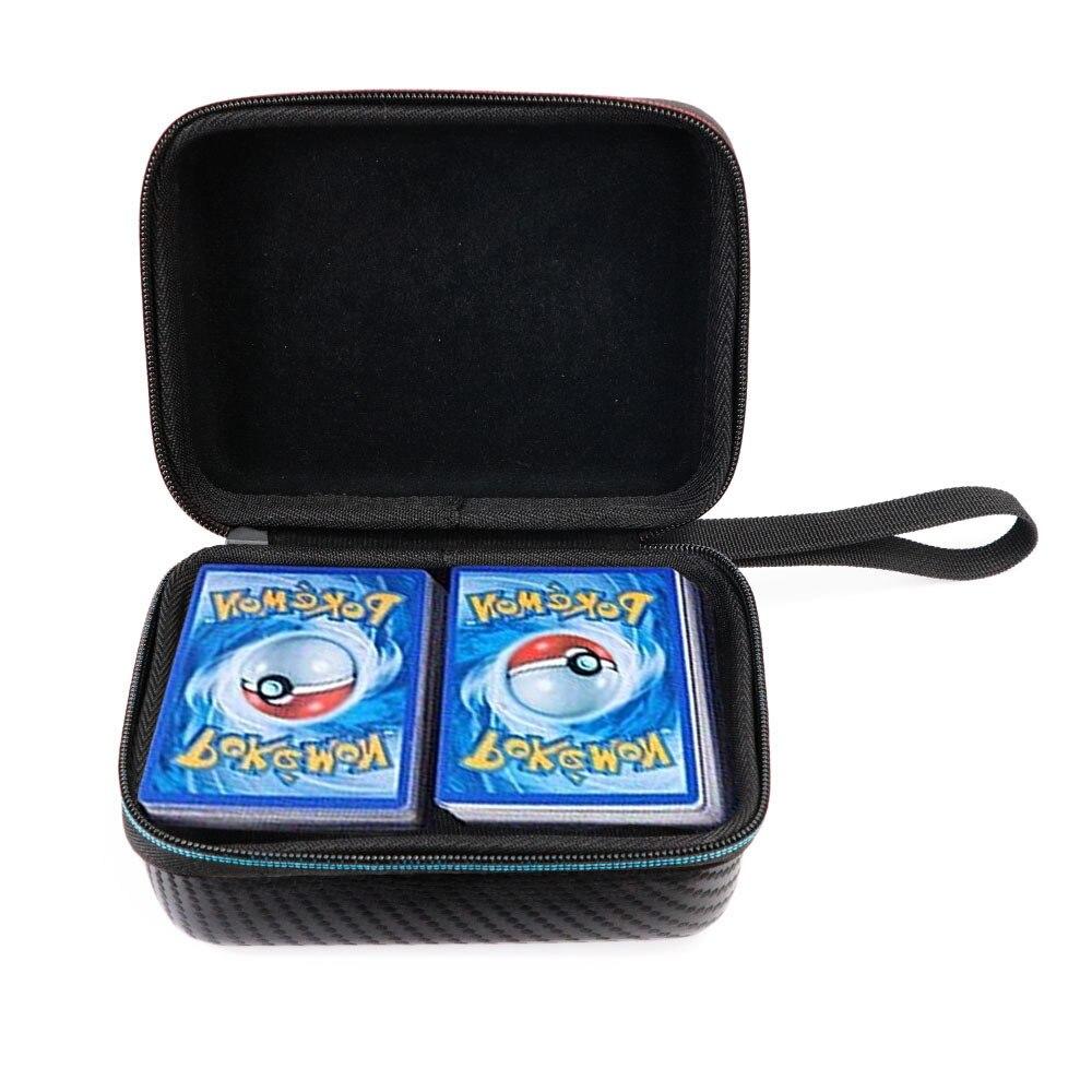 600pcs 용량 게임 카드 수집 상자 포케몬 TCG 팩 16*11*7cm 거래 어린이 장난감 선물