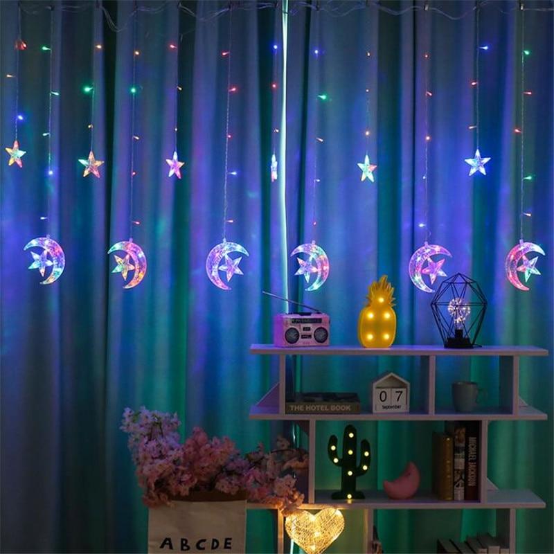 Купить 25 м звездный лунный занавес гирлянда для дома гостиницы спальни