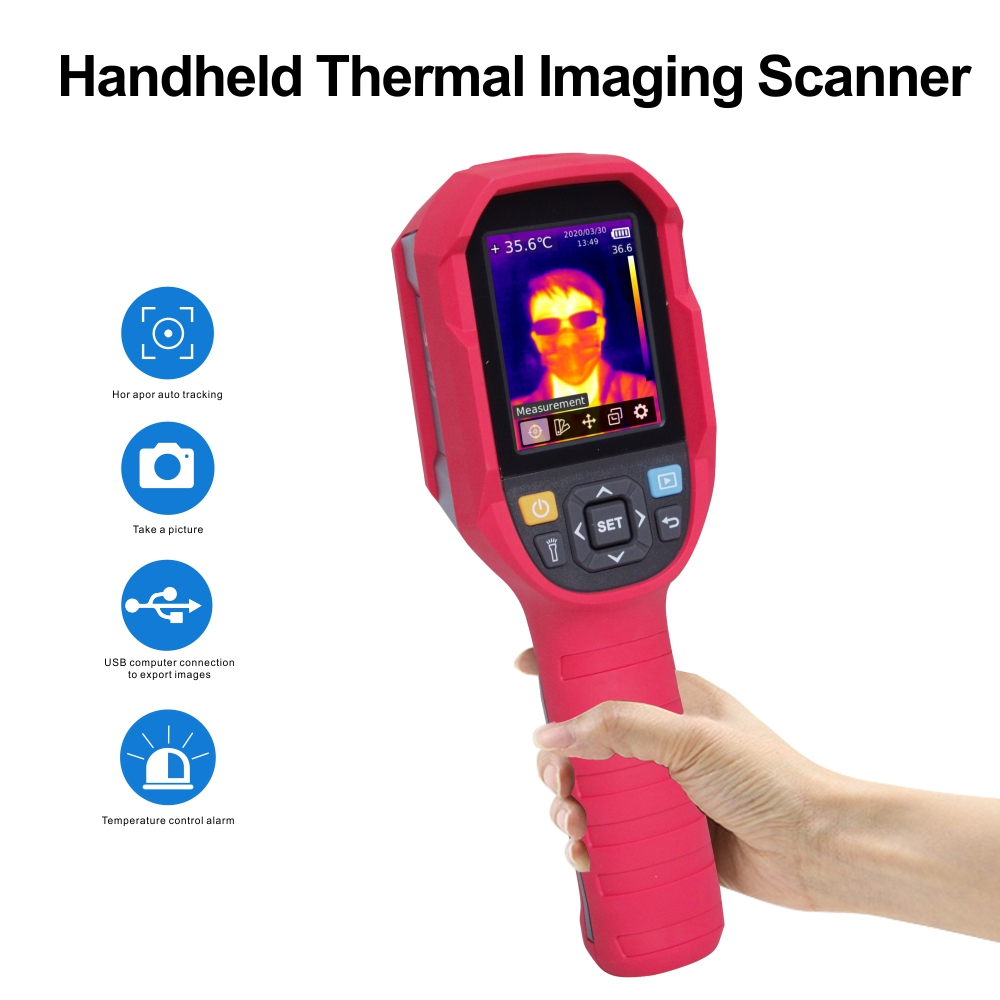 Dual Light Handheld HD 300000 Pixels Infrared Thermal Imager Thermal Imaging Scanner Floor Heating Detector Temperature  Imaging