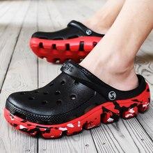 Hommes sabots sandales chaussures d'été décontractées pantoufles hommes mode tongs hommes en cuir sandales chaussures de plage légères Schoenen Mannen