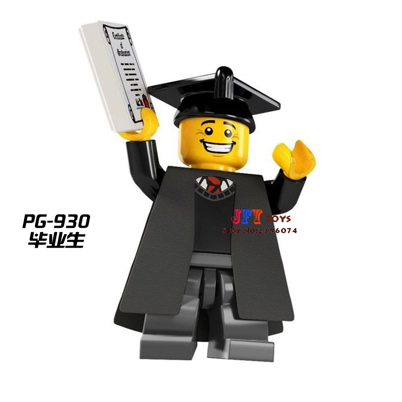 Single Sale Superhero Graduates Collectible Building Blocks Model Bricks Toys For Children Action Figures