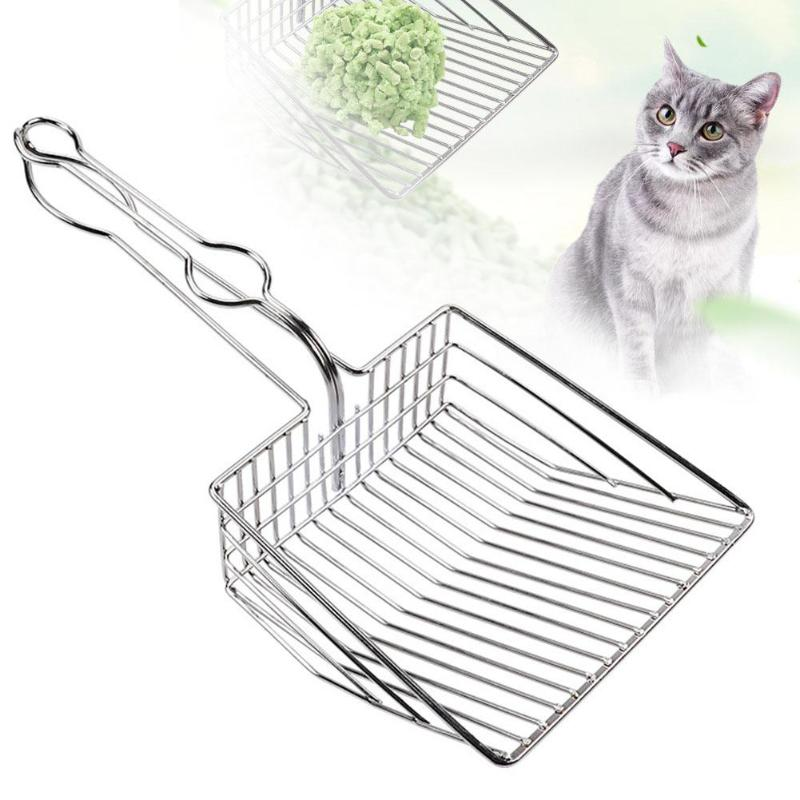 Cat Litter Scoop Stainless Steel Metal Pooper Scoopers Pets Litter Sand Shovel Pet Shit Artifact Dogs Shovel Pet Cleanning Tool