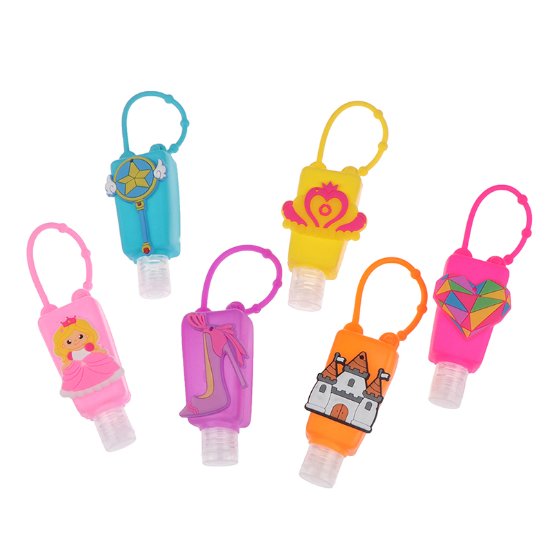 New 1PC Cute Cartoon Waterless Silicone Bath Body Works Hand Sanitizer Pocketable Antibacterial Holder With Empty Bottle