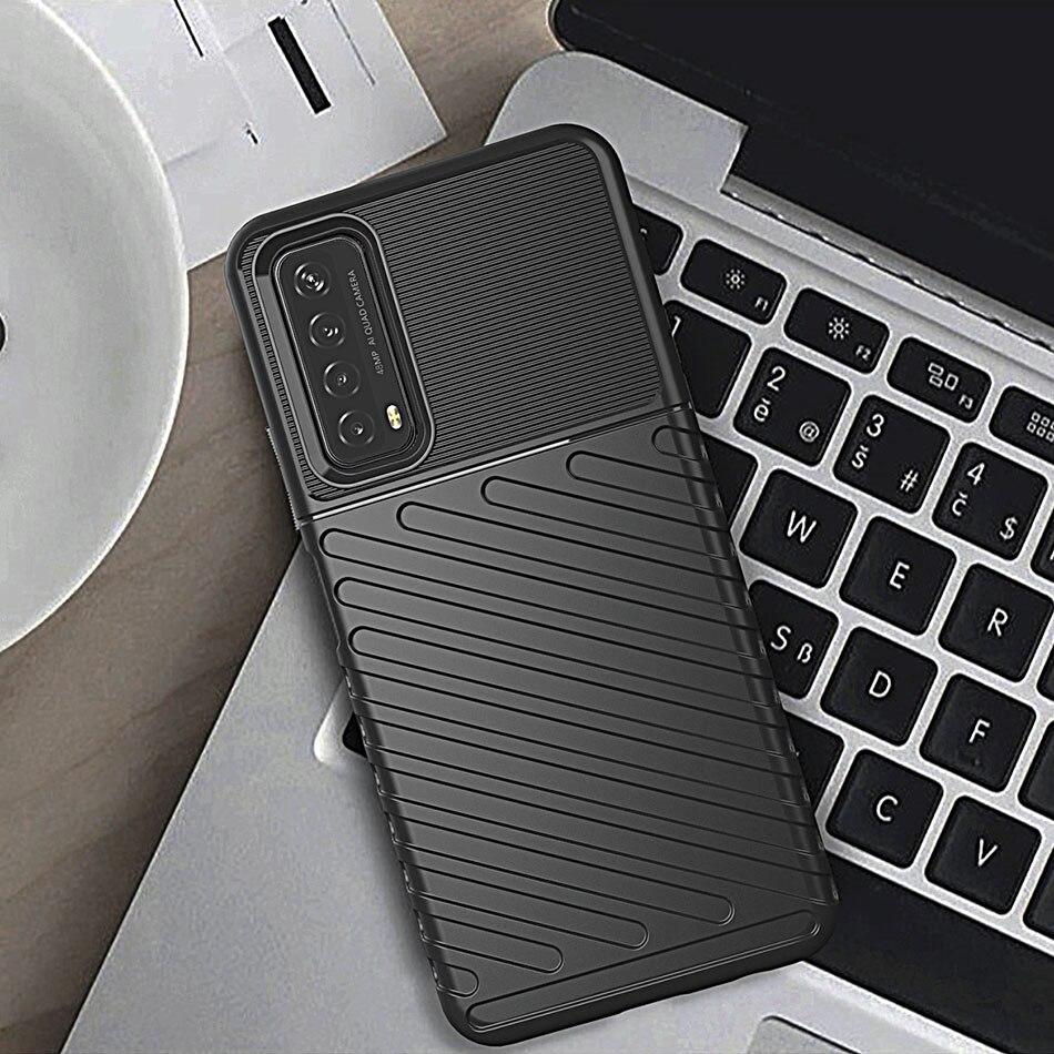 Противоударный чехол в стиле милитари для Huawei P Smart 2021 Y7A, сверхпрочный чехол-книжка для телефона Huawei Y7A