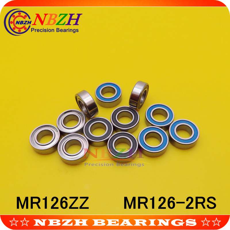 <font><b>MR126ZZ</b></font> Bearing ABEC-5 (10PCS) 6*12*4 mm Miniature MR126Z Ball Bearings MR126 ZZ L-1260ZZ MR126RS MR126-2RS SMR126ZZ SMR126-2RS image