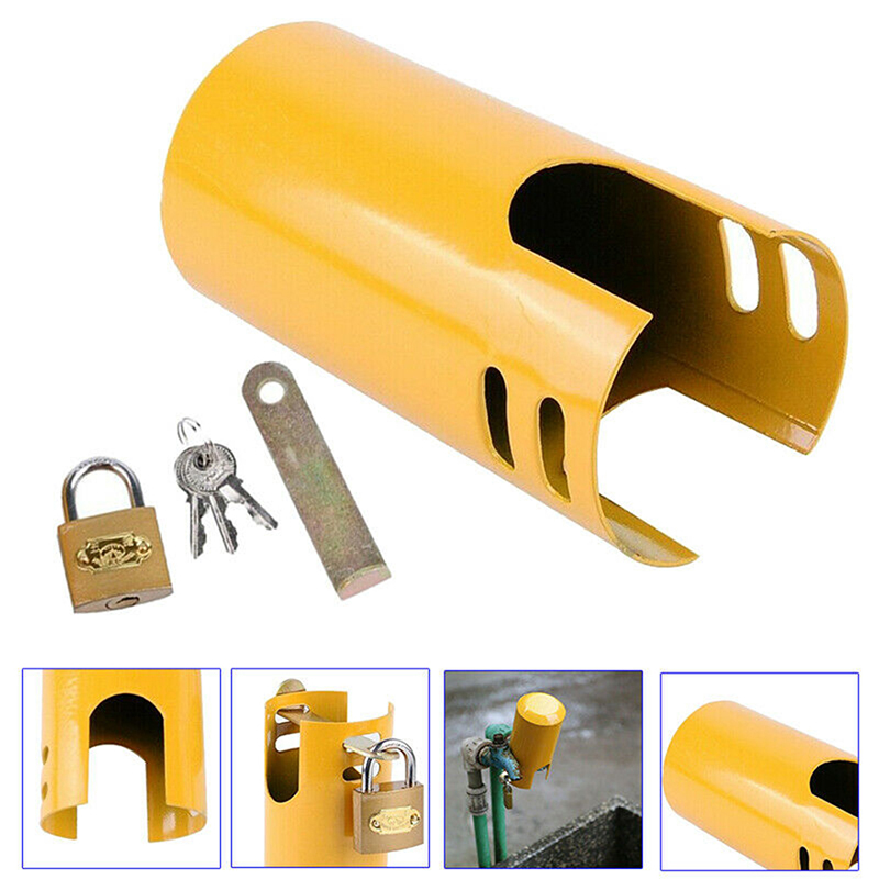 1 Set New Arrival Outdoor Faucet Lock Tap Outdoor Garden Tap Valve Padlock Protection Home Improvement Faucet Accessories