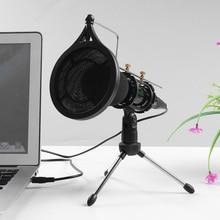 3.5mm mikrofon kondensujący Studio Online Audio nagrywanie dźwięku stojak na mikrofon zestaw pojemnościowy nagrywanie Microfone ultra szeroki