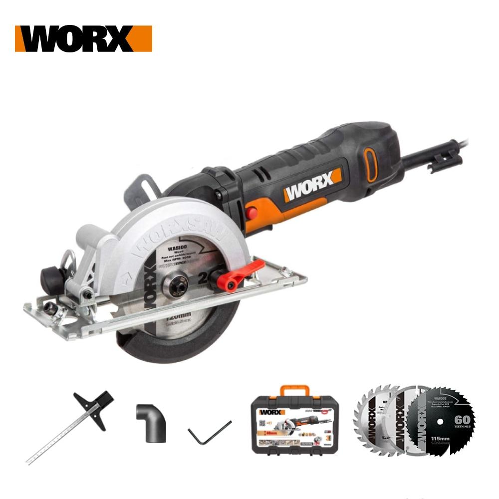Worx 500W Electric Saw WX439 Circular Saw 120mm Compact Household Power Tools Cutting-machine Multi-function Mini Saw handheld